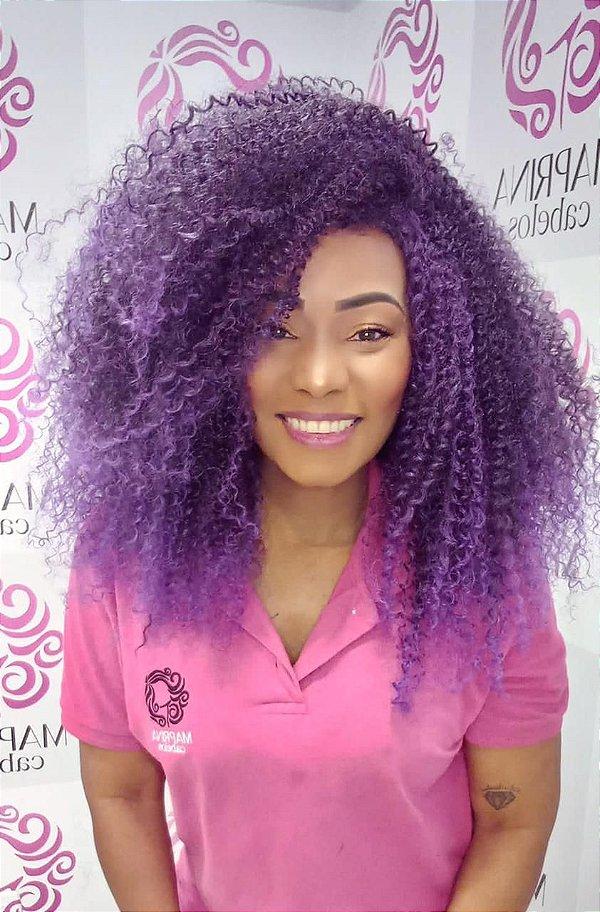 Peruca ARRASOU Wig - Sleek ( cor 1B/Purple10 - Preto + Roxo )