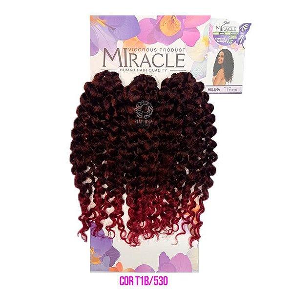 Cabelo Miracle Helena 220g cor T1B/530- Preto com vermelho