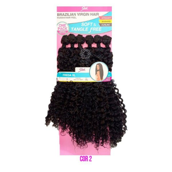 Cabelo Freda XL 260g cor 2  CASTANHO ESCURO  - Brazilian Virgin Hair