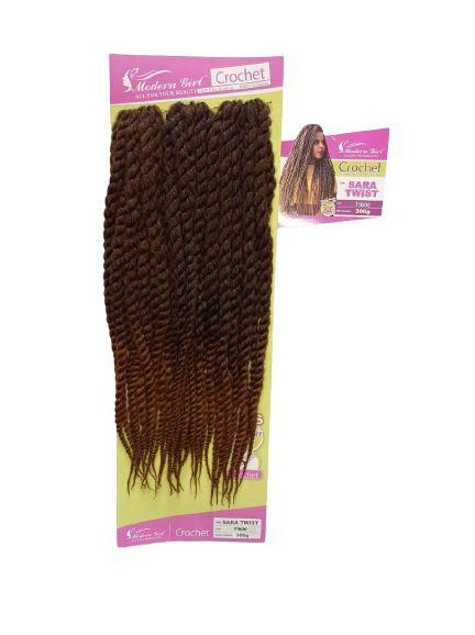 Twist Sara - Crochet ( cor T1B/30 Preto mesclado com cobre )