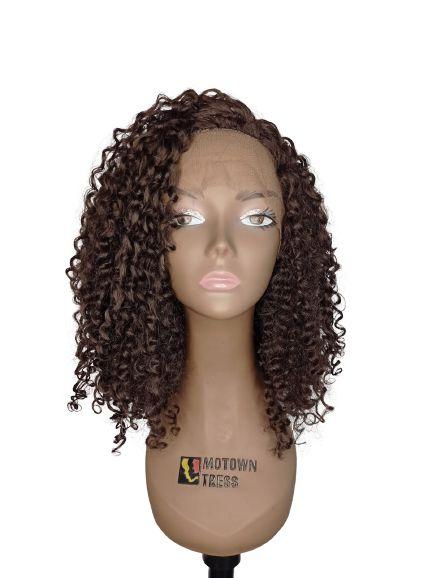 Peruca Front Lace YILIA ( cor 4 castanho  )-Morden Girl+ Touca Wig Cap
