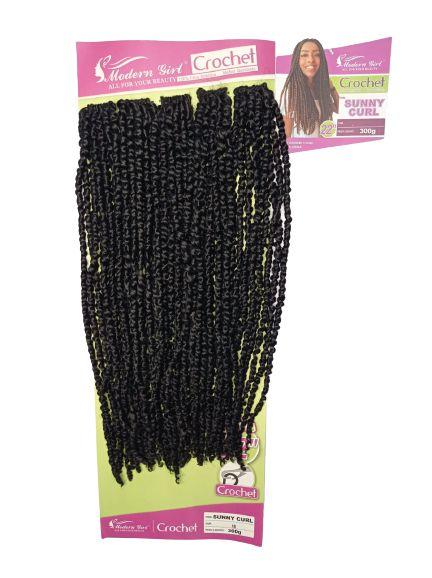 Sunny curl  - Crochet - ( cor 1 preto  )