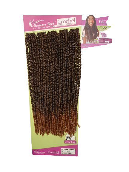 Sunny curl  - Crochet - ( cor T1b/30 preto mesclado com cobre )