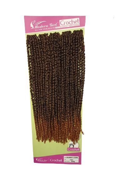 Sunny curl  - Crochet - ( cor T1b/27 preto mesclado com loiro mel )