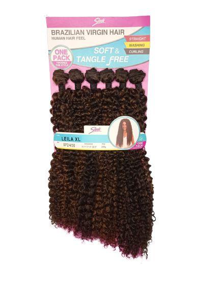 Cabelo Leila XL 260g (cor  SP2/4/30 castanho mesclado com cobre )- Brazilian Virgin Hair