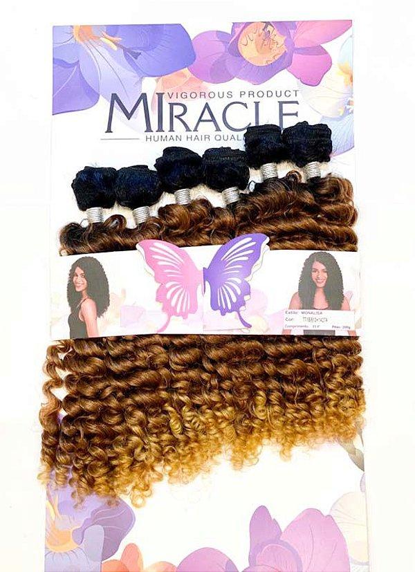Cabelo Miracle Monalisa 200g ( COR TT1B/613+1427A - Preto na raiz + loiro claro + loiro mel)