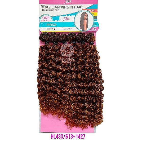 Cabelo Freda 260g - Brazilian Virgin Hair (Cor HL433/613+1427 - Mesclado Castanho + Loiro claro)