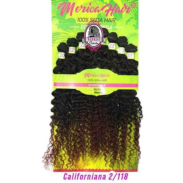 Cabelo Gloss - Mérica Hair ( Cor Californiano2/118 - Castanho Escuro + acaju )