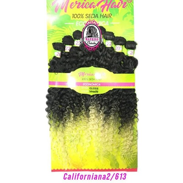 Cabelo Gloss - Mérica Hair ( Cor Californiania 2/613 - Castanho Escuro +  Loiro Claro)