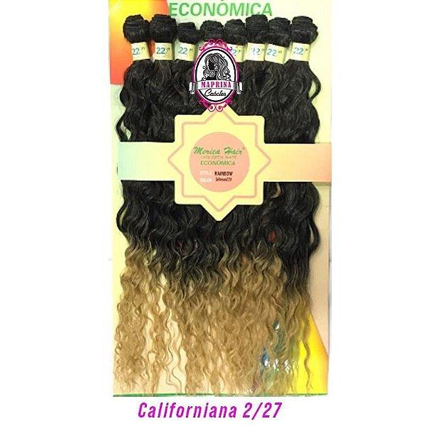 Cabelo Rainbow orgânico - Mèrica Hair 250G ( cor 2/27californiana castanho com as pontas loiro mel )