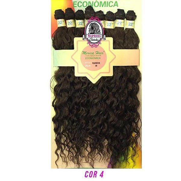Cabelo Rainbow orgânico - Mèrica Hair 250G (cor 4 castanho )