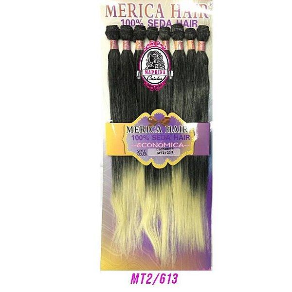 Cabelo Cachoeira Mérica Hair 250g (cor 2/613 castanho escuro +  loiro nas pontas )