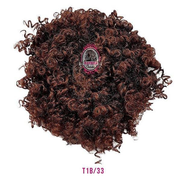 Afro Puff Orgânico 120g Fashion Line ( cor T1b/33 PRETO COM ACAJÚ  )