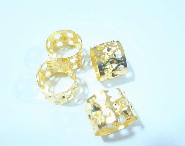 Anel de Trança 002 Regulável ( Dourado)