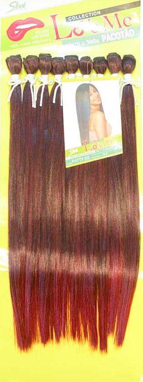 Cabelo Patty  Liso - Sleek ( Cor T1B/530 - Preto + Vermelho Marsala)