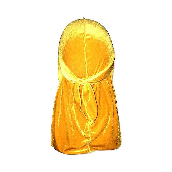 Durag de Veludo Unisex (cor Amarelo)