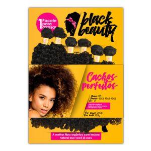 Cabelo Cachos Perfeitos 0A  - Black Beauty ( Cor 2 - Castanho escuro)