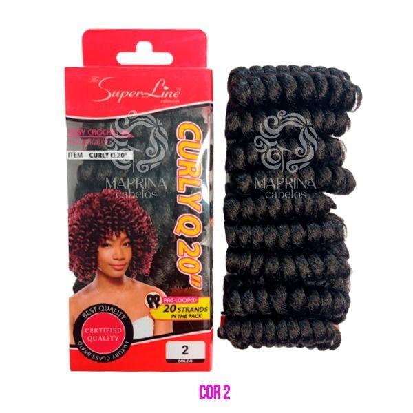 Cabelo Curly Q20 - Super Line ( cor 2 - Castanho escuro)