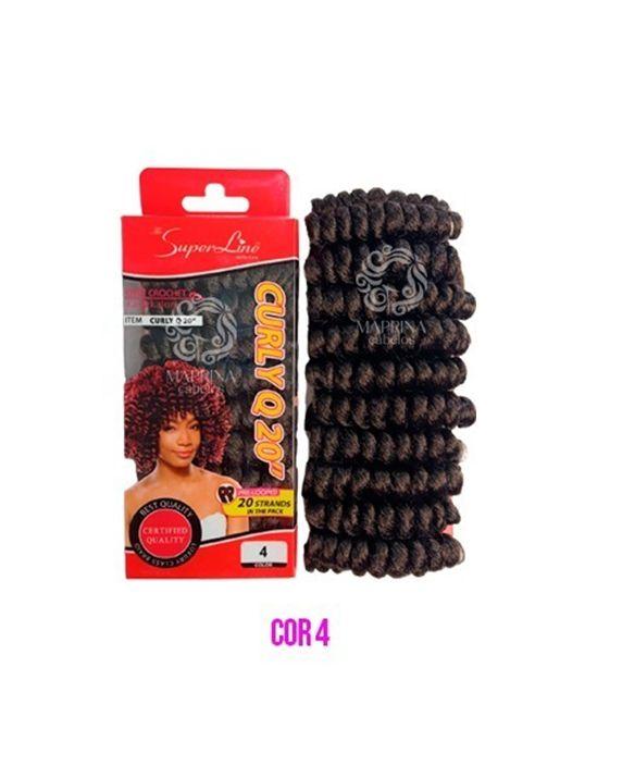 Cabelo Curly Q20 - Super Line ( cor 4 - Castanho)