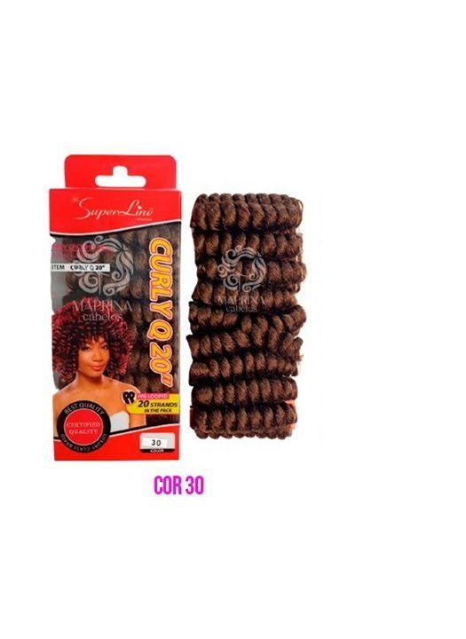 Cabelo Curly Q20 - Super Line ( cor 30  - Cobreado)