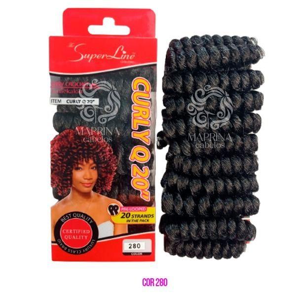 Cabelo Curly Q20 - Super Line  cor 280