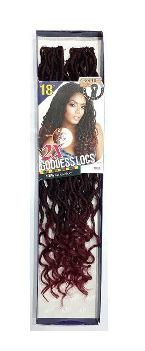 Goddess Locs 2x - Cherey (cor T1B/Bug - Preto/Vermelho Cereja)