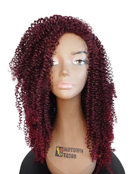 PERUCA WIG GIADA - TrueMe ( cor T1B/530 - Preto + Vermelho Cereja claro nas pontas)+ Grátis uma touca Wig