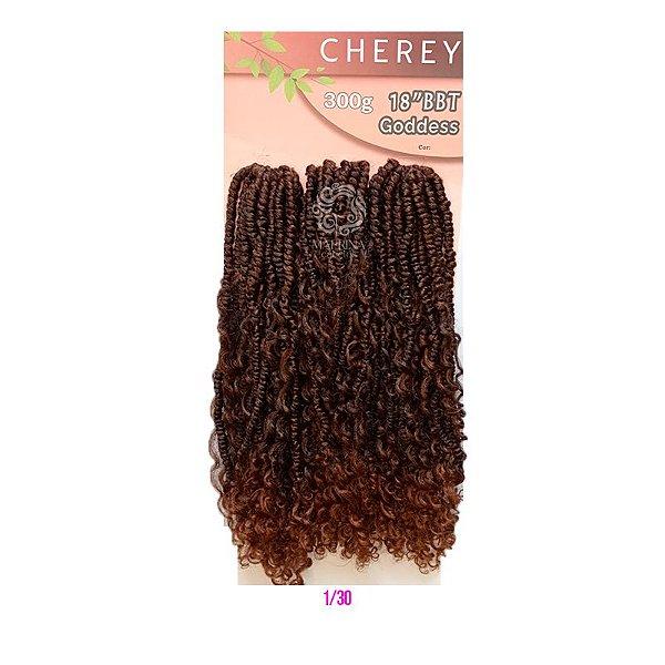 "Goddess BBT 18"" 300g - Cherey  ( COR  T1/30 - Preto + chocolate)"