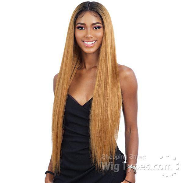 Cabelo Alba Brazilian Virgin Hair ( cor TT4/T30B/24B - Castanho claro mesclado com loiro escuro e loiro claro)