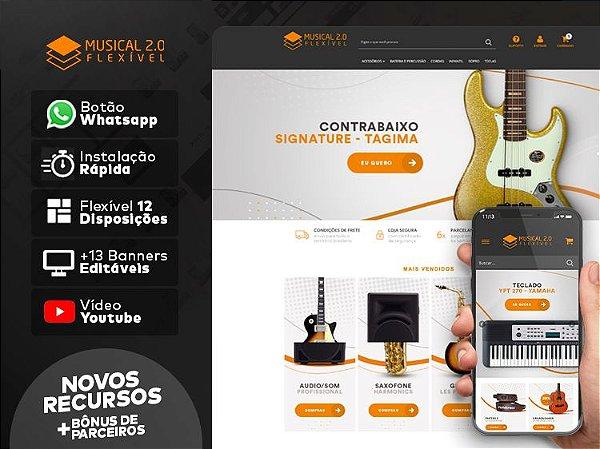 Tema Flexível - Instrumentos Musicais 2.0 | Loja Integrada