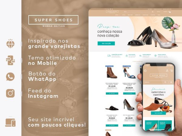 Tema Super Shoes Woman | Loja Integrada