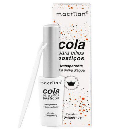 Cola para Cílios Postiços Transparente Macrilan CA-001