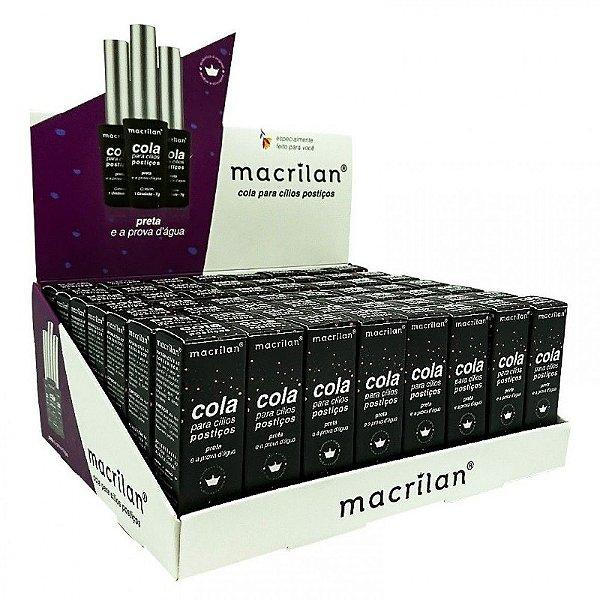 Cola para Cílios Postiços Preta Macrilan CA-002 56 Unidades