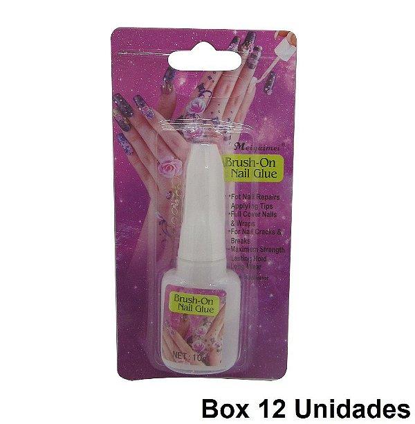 Cola para Unha Brush-On Nail Glue 12 Unidades