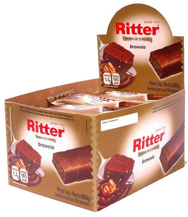 Barra de Cereal Brownie Chocolate - Display com 24 un