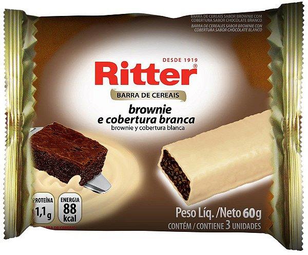 Barra de Cereal Brownie com Chocolate Branco - 3un