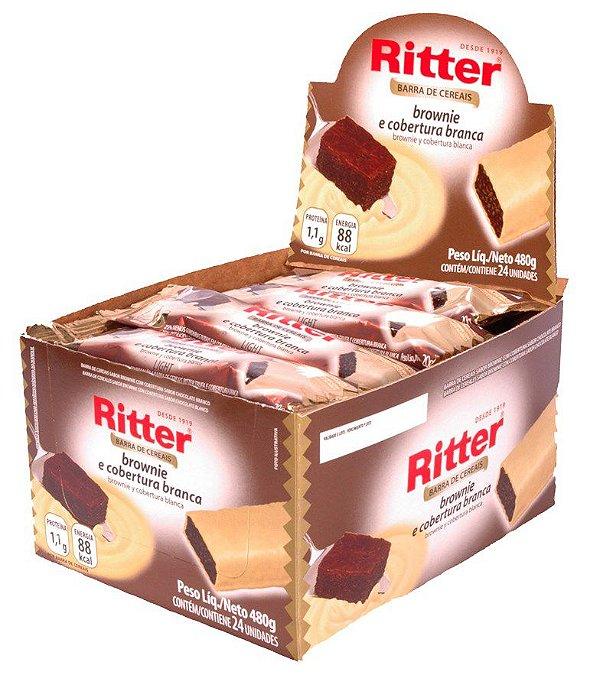 Barra de Cereal Brownie com Chocolate Branco - Display com 24 un