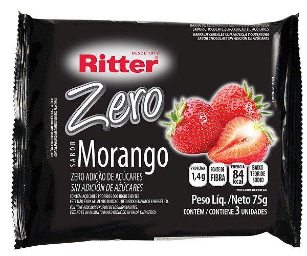 Barra de Cereal Morango com chocolate Zero Açúcar - 3un