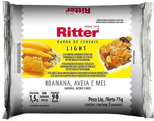 Barra de Cereal Light - Banana, Aveia e Mel - 3un