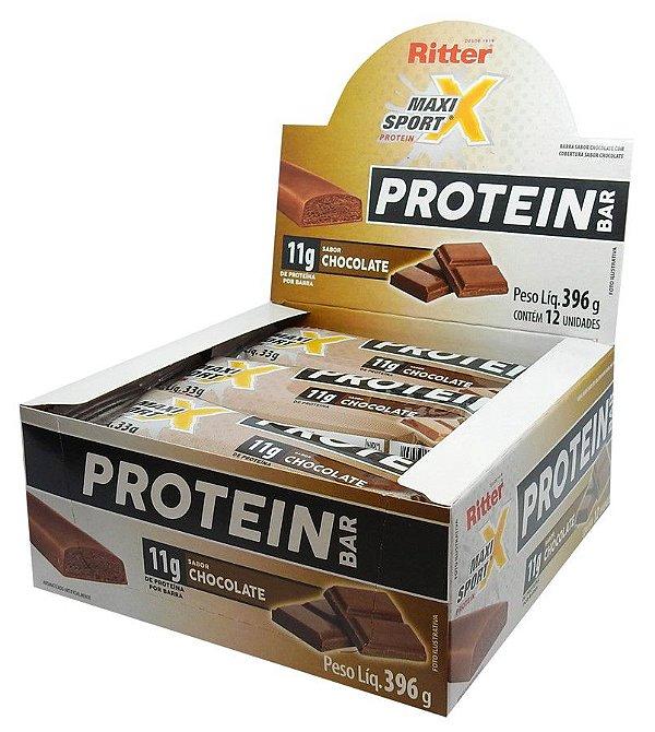 Barra de Proteína de Chocolate - Display c/ 12 un
