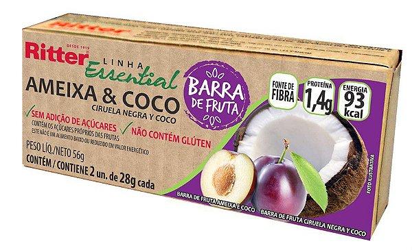 BARRA DE FRUTA AMEIXA E COCO - 2 UNIDADES DE 28g CADA