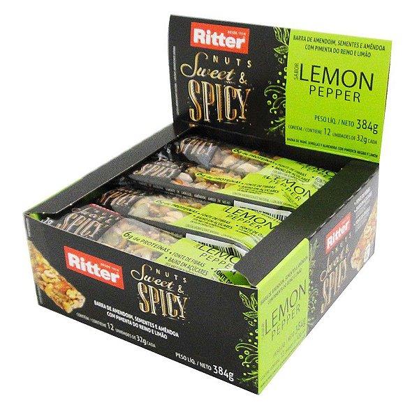 BARRA NUTS COM LEMON PEPPER - DISPLAY COM 12 UN.