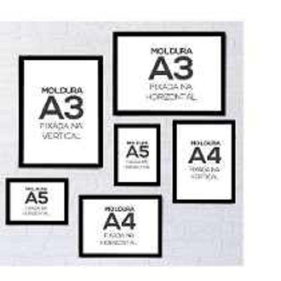 Kit 6 quadros A3, A4, A5 com vidro Moldura varias cores