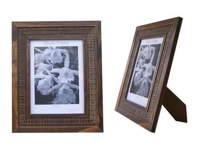 Kit 5 Porta Retrato Moldura Madeira 15x21 Varios Modelos com vidro