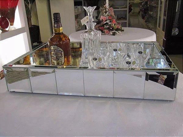 Bandeja Espelhada Bisotada Grande / Bar 50x30x10