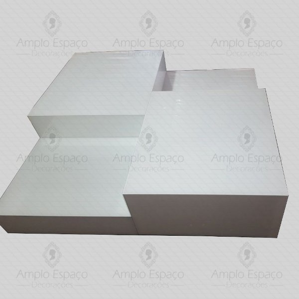 Mesa Centro Vidro Pintado de Branco