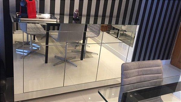 Buffet Espelhado Lapidado 160x45x90 leve e toque