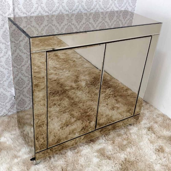 Buffet em espelho Bronze Bisotado 110x45x110