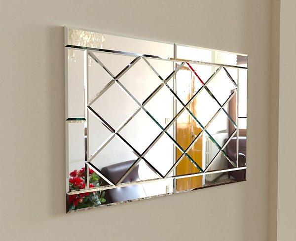Espelho Decorativo Losango com bisotê 140-100