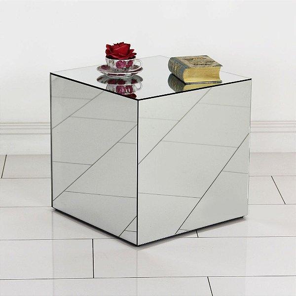 Mesa Lateral de Canto Espelhada 45 x 45 cm
